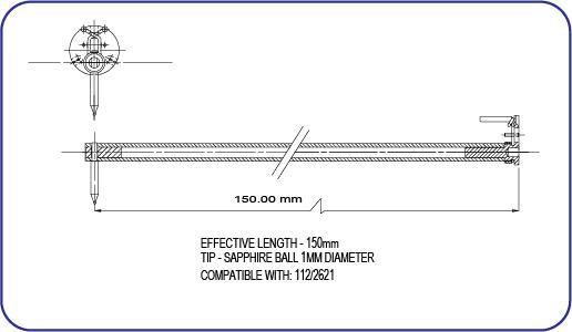 Taylor Hobson Sapphire Ball Stylus 112/2621 PGI