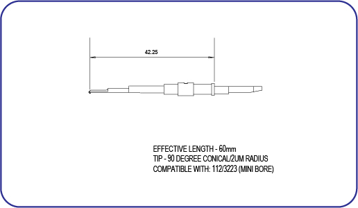 Taylor Hobson Diamond Stylus 112/3223 Mini Bore Stylus
